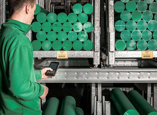 L-mobile Digitalisierte Lagerlogistik Infothekbeitrag L-mobile warehouse Anbindung an BDE Rohmaterial im Lager
