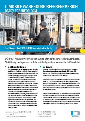 L-mobile mobile Softwarelösung Referenzbericht L-mobile warehouse SÖHNER Kunststofftechnik GmbH