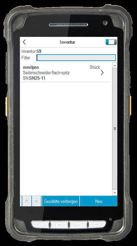 L-mobile Digitalisierte Lagerlogistik warehouse ready for ALPHAPLAN Anwendungsfunktion Inventur mobile Oberfläche