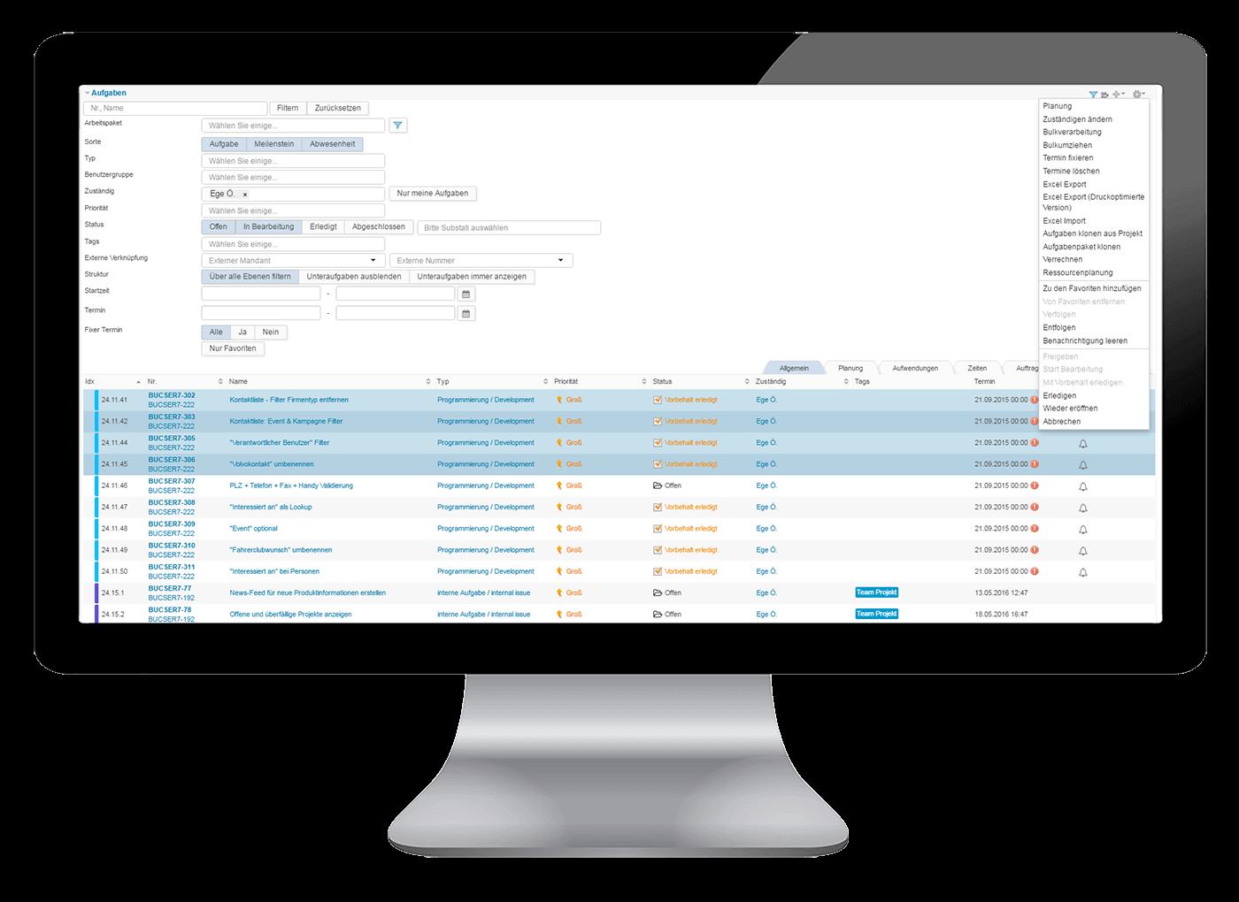 L-mobile Vernetztes Projektmanagement Projektplanung Funktionen Aufgabenplanung