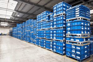 Digitalisierte Lagerlogistik L-mobile warehouse Lagerplatzauszeichnung Behältermanagement