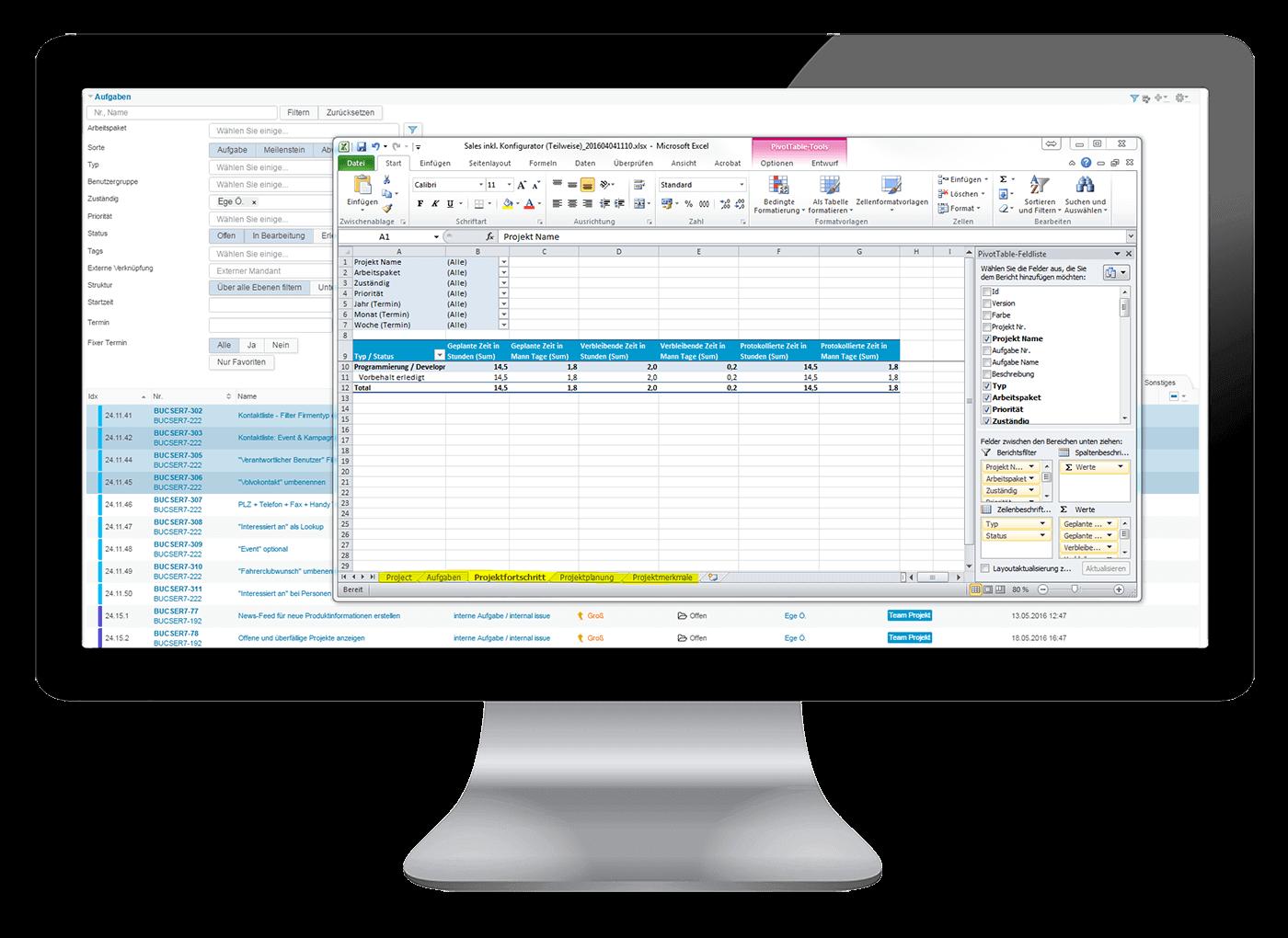 L-mobile Vernetztes Projektmanagement Projektplanung Funktionen Bericht