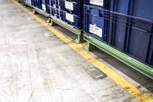 Digitalisierte Lagerlogistik L-mobile warehouse Lagerplatzkennzeichnung Bodenkennzeichnung für Palettenstellplätze