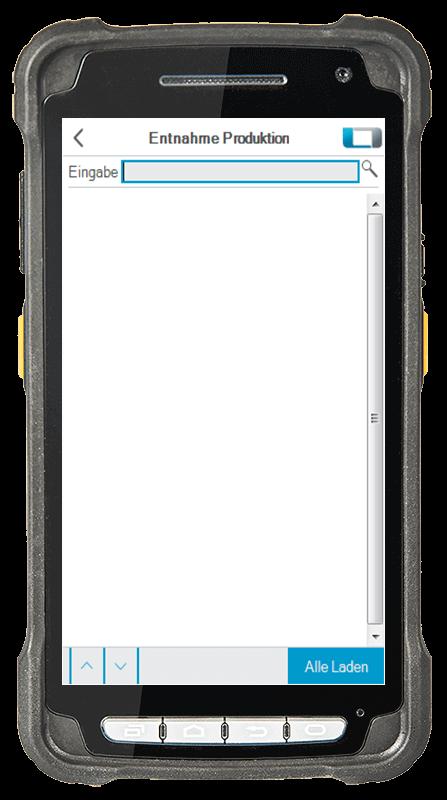 L-mobile Digitalisierte Lagerlogistik L-mobile ready for proALPHA Erweiterungsmodul Entnahme Produktion mobile Oberfläche
