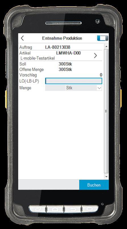 L-mobile Digitalisierte Lagerlogistik L-mobile ready for proALPHA Erweiterungsmodul Ausfasslisten mobile Oberfläche