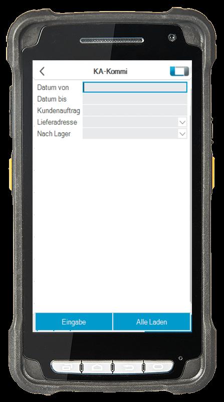 L-mobile Digitalisierte Lagerlogistik L-mobile ready for proALPHA Erweiterungsmodul Kommissionierung Kundenaufträge mobile Oberfläche