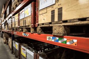Digitalisierte Lagerlogistik L-mobile warehouse Lagerplatzauszeichnung durch Multilevel / Multicolour Etiketten