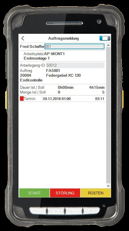 L-mobile Digitalisierte Lagerlogistik L-mobile ready for Infor COM Erweiterungsmodul BDE-Arbeitsgangrückmeldung mobile Oberfläche