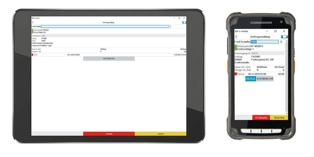 L-mobile Digitalisierte Produktion Datenerfassung BDE Auftragsmeldung_Gesamt