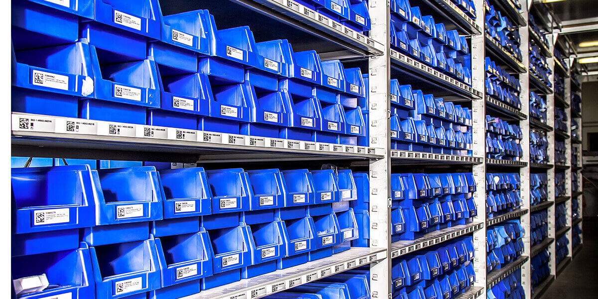 L-mobile Digitalisierte Produktion Materialfluss E-Kanban C-Teile