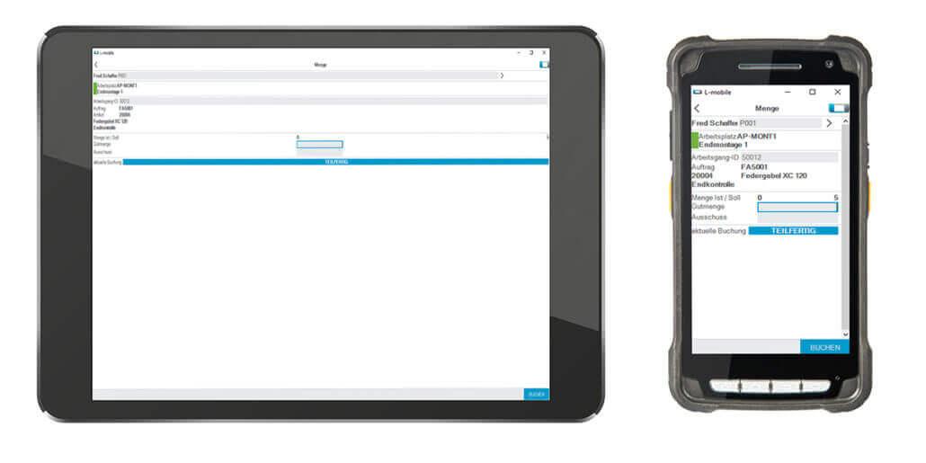 L-mobile Digitalisierte Produktion Datenerfassung BDE Mengenmeldung_Gesamt