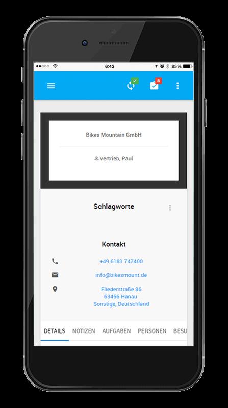 L-mobile Mobiler Vertrieb Funktionen Mobile Oberfläche für den Außendienst Eine mobile Oberfläche erleichtert Ihnen den Arbeitsalltag