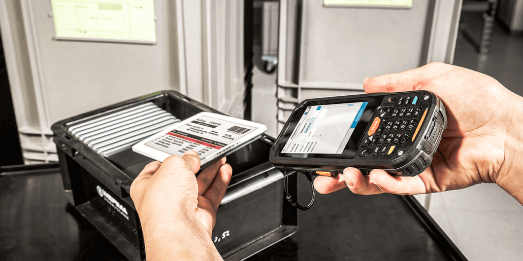 L-mobile Digitalisierte Produktion Materialfluss e-label Auftragsverheiratung