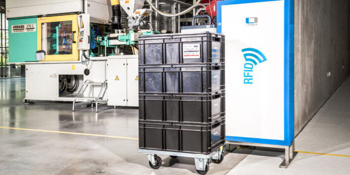 L-mobile Digitalisierte Produktion Track and Trace RFID-Gate
