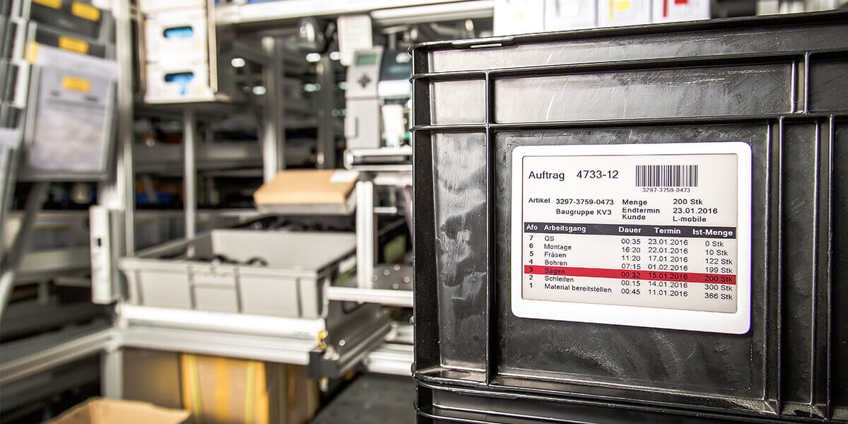 L-mobile Digitalisierte Produktion Materialfluss e-label Teaser
