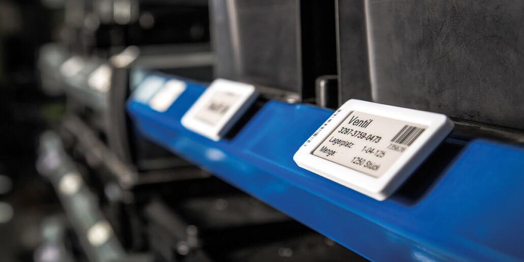 L-mobile e-label in der Lagerlogistik: Elektronische Etiketten als digitale Lagerplatzkennzeichnung