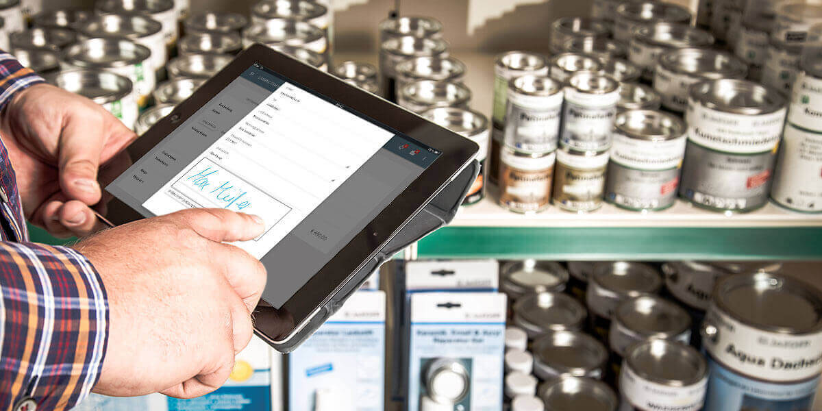 L-mobile Mobiler Vertrieb Funktionen Mobile Auftragserfassung mit Unterschrift