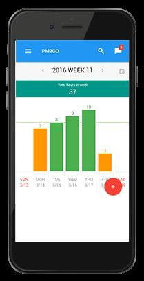 L-mobile Vernetztes Projektmanagement mobile Oberfläche Smartphone