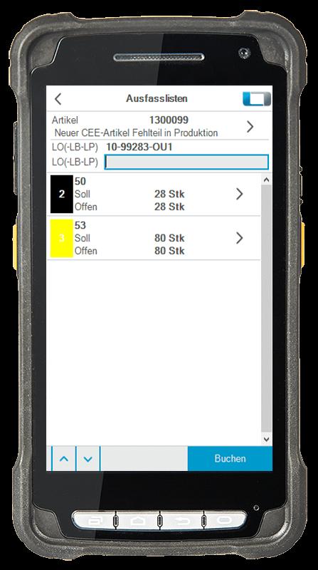 L-mobile Digitalisierte Lagerlogistik L-mobile ready for proALPHA Erweiterungsmodul Multi-Kommissionierung mobile Oberfläche