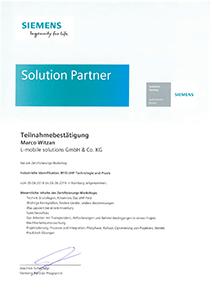 L-mobile Hardware Zertifikat Siemens Marco Witzan RFID-UHDF