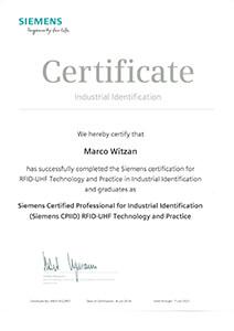 L-mobile Hardware Zertifikat Siemens Marco Witzan RFID