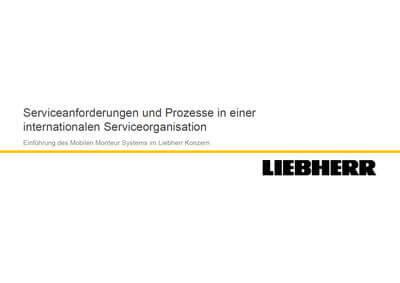 L-mobile Digitales Service Management L-mobile service expert day Vortrag Michael Loose Liebherr