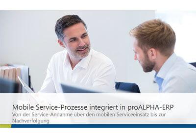 L-mobile Digitales Service Management L-mobile service expert day Vortrag Heinemann Voges proALPHA