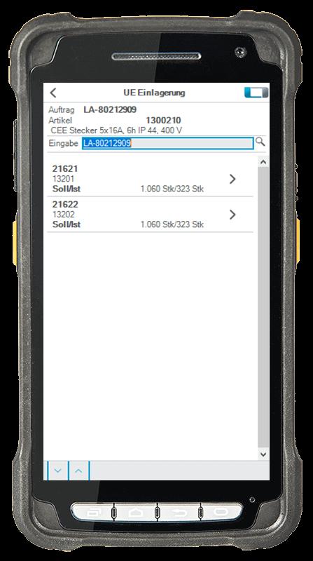 L-mobile digitalizált raktárlogisztika L-mobile ready for proALPHA kiegészítő modul FK-készletek mobil felület