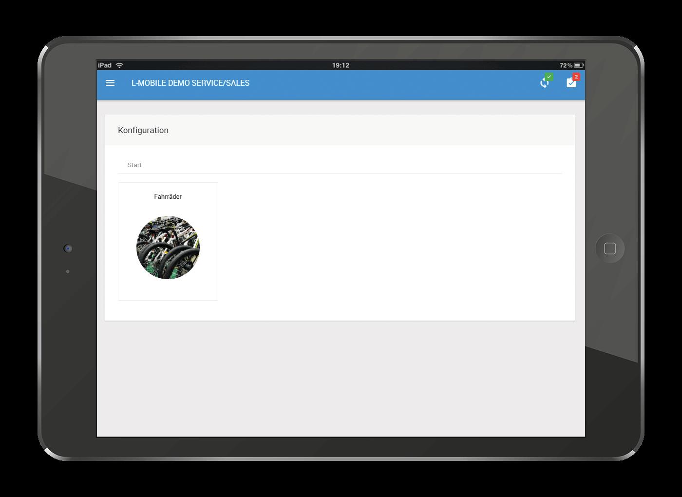 L-mobile Mobiler Vertrieb Konfigurator für Produkte