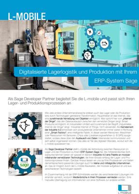 Digitalisierte Lagerlogistik und Produktion mit dem ERP-System Sage