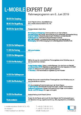 Agenda L-mobile expert day | Expertentag Handel und Industrie 2019