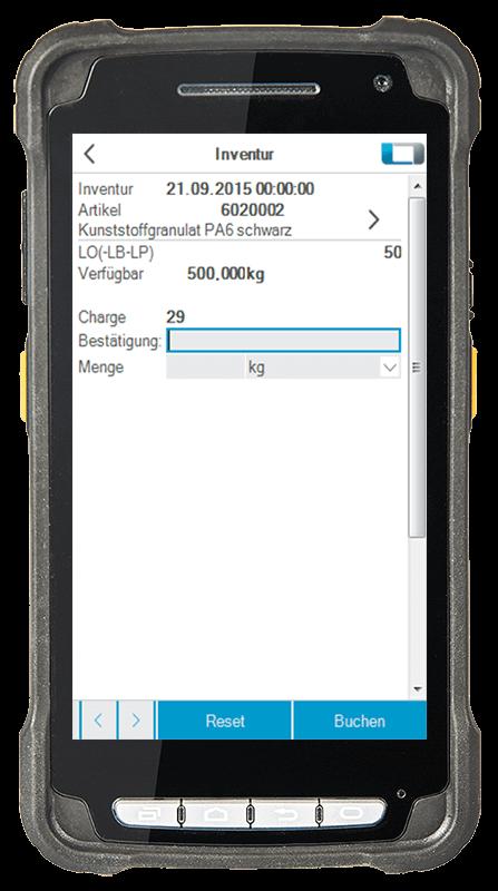 L-mobile Digitalisierte Lagerlogistik warehouse ready for AX Erweiterungsmodul Inventur mobile Oberfläche