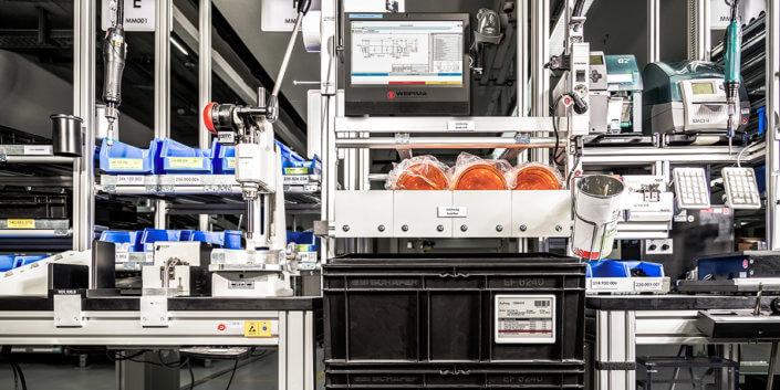 L-mobile Digitalisierte Produktion Modulares MES Materialfluss