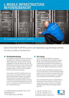 L-mobile infrastructure Server und IT-Sicherheit Referenzbericht DICKOW PUMPEN