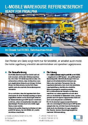 L-mobile warehouse ready for proALPHA Referenzbericht ROBEL