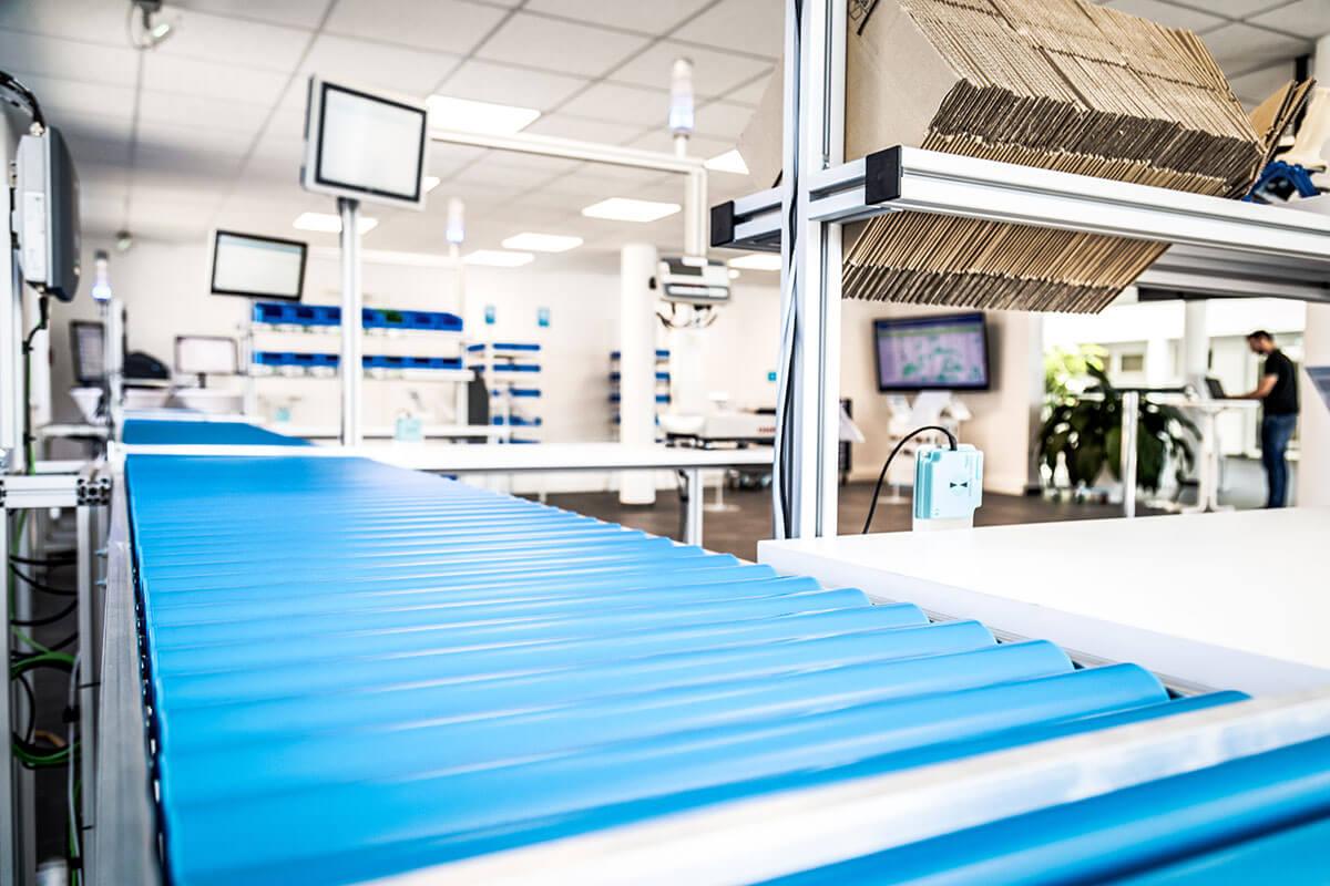 L-mobile Digital Factory - die papierlose Produktion Rollband RFID-Auftragserfassung