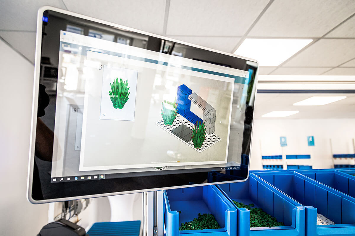 L-mobile Digital Factory - die papierlose Produktion KLT Losgröße 1 Arbeitsplatz Arbeitsanweisungen Monitor