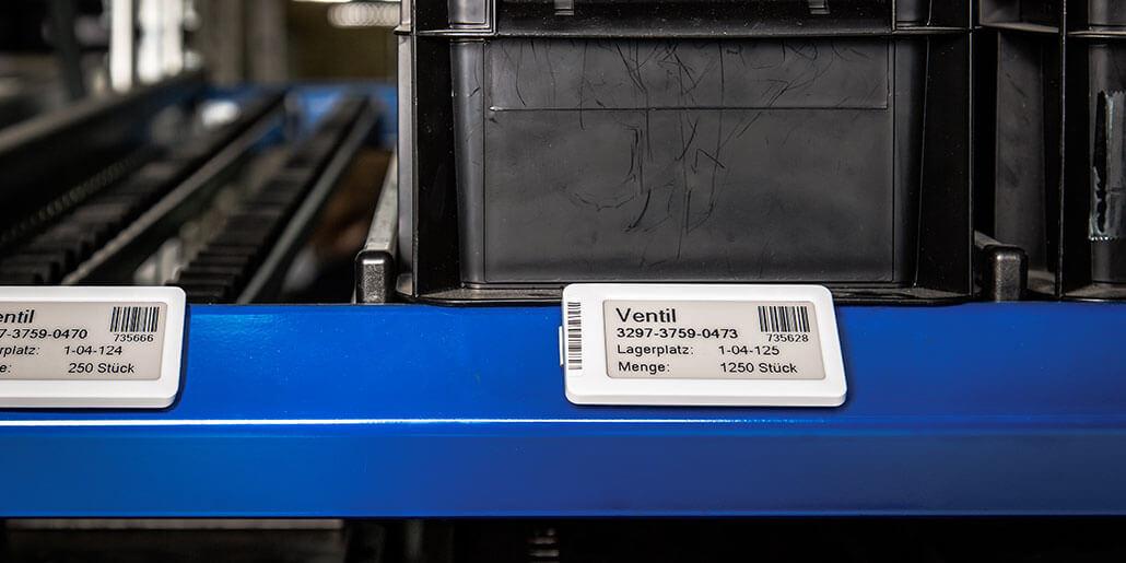 Mit elektronischen Etiketten können Informationen zu Beständen jederzeit abgerufen werden