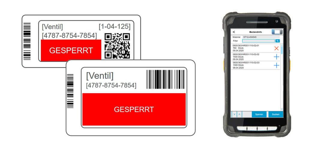 L-mobile e-label elektronisches Etikett Terminverletzung Zieltermin in Produktion einhalten