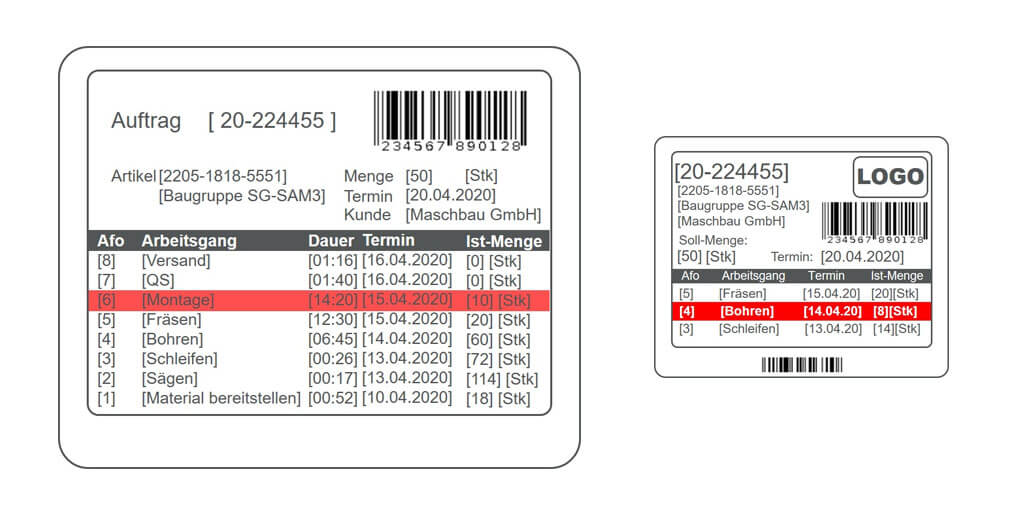 Transparente Auftragsverfolgung in der Produktion mit dem L-mobile e-label