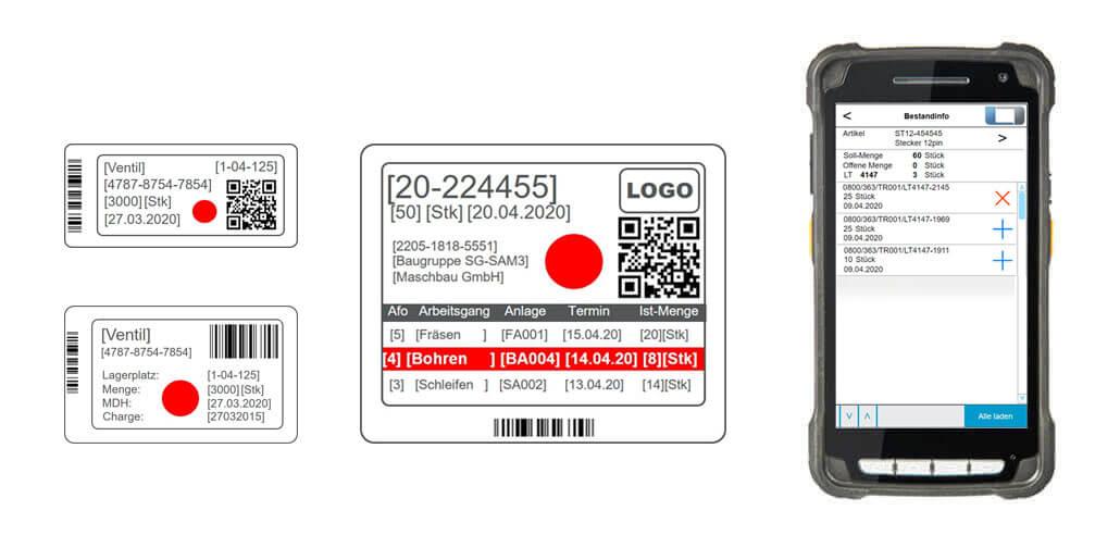 L-mobile e-label bieten präzise Möglichkeiten zur Echtzeit Ortung eines Fertigungsauftrags