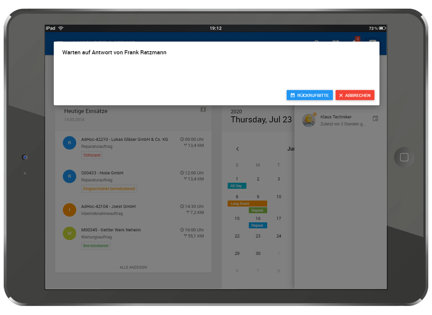 L-mobile Field Service Management mit Augmented Reality Rückruf