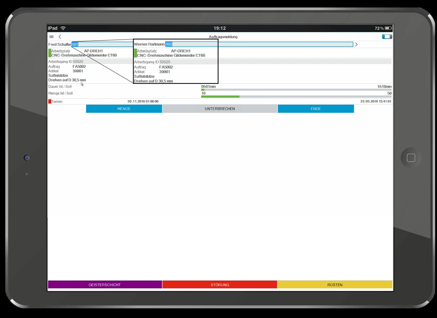 L-mobile Digitalisierte Produktion mit der Betriebsdatenerfassung für Sage 100 / Sage Office Line