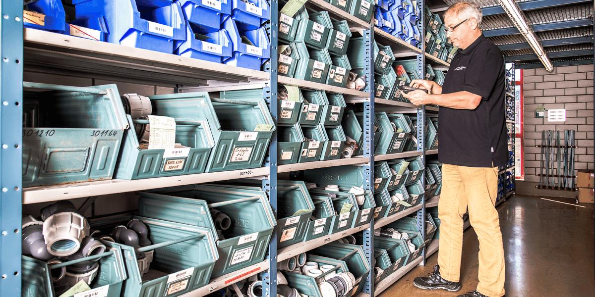 Digitalisierte Lagerlogistik warehouse ready for sage Office line / sage 100