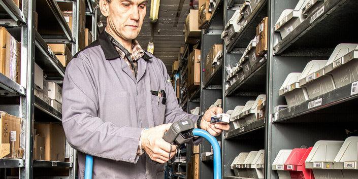 Digitalisierte Lagerlogistik L-mobile warehouse ready for SAP Business One Inventur