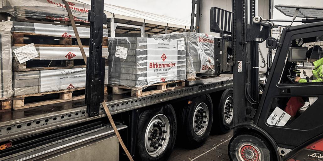 Referenzbericht L-mobile warehouse ready for MS Dynamics Birkenmeier Stein+Design GmbH