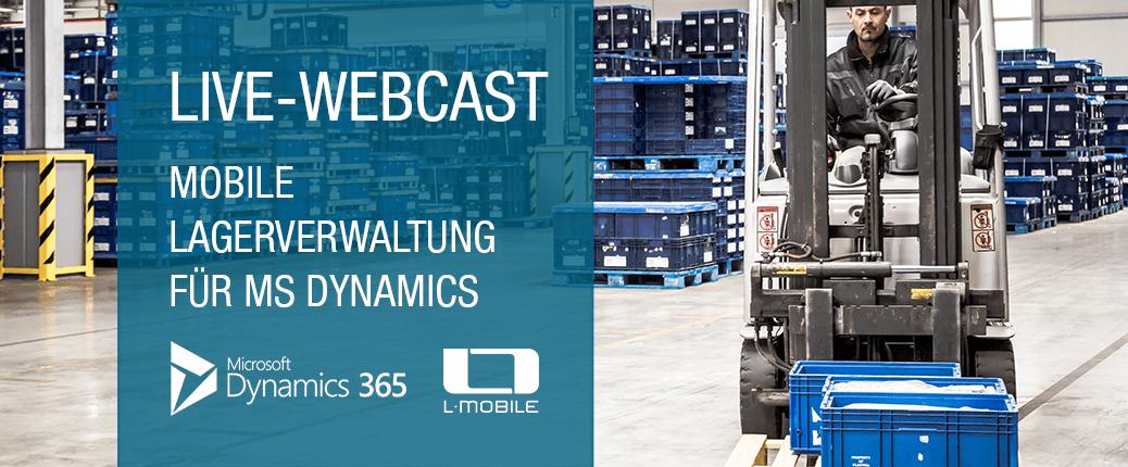 LIVE-Webcast L-mobile warehouse ready for MS Dynamics Mobile Lagerverwaltung -Juni