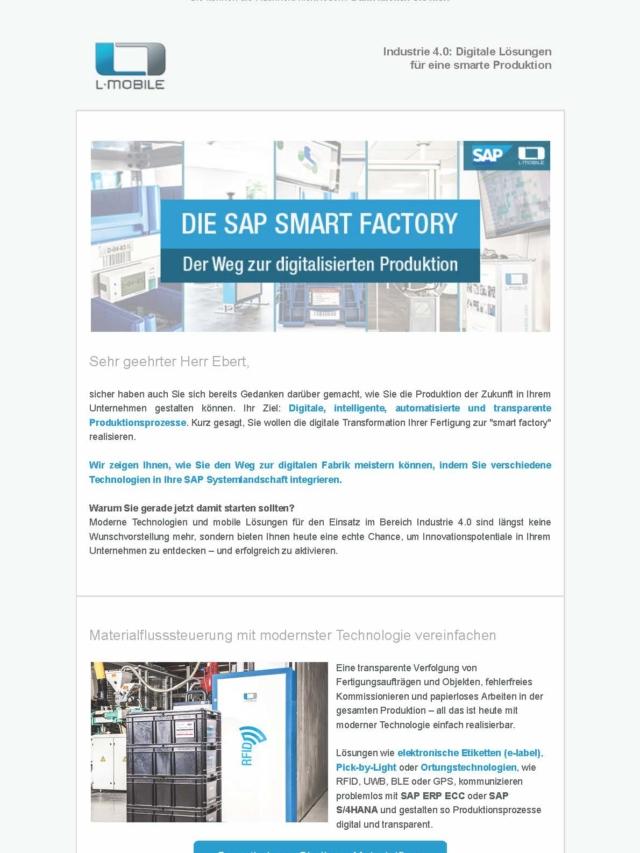 Praxis-Info SAP smart factory und L-mobile – Die digitale Transformation selbst in die Hand nehmen_Seite_1
