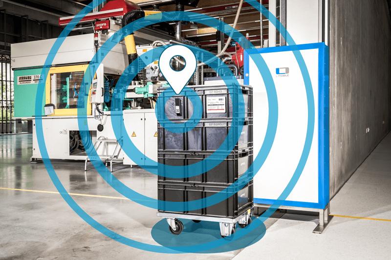 L-mobile, Digitalisierte Produktion, Digitale Materialflusssteuerung, SAP smart factory, e-label, UWB-Ortung