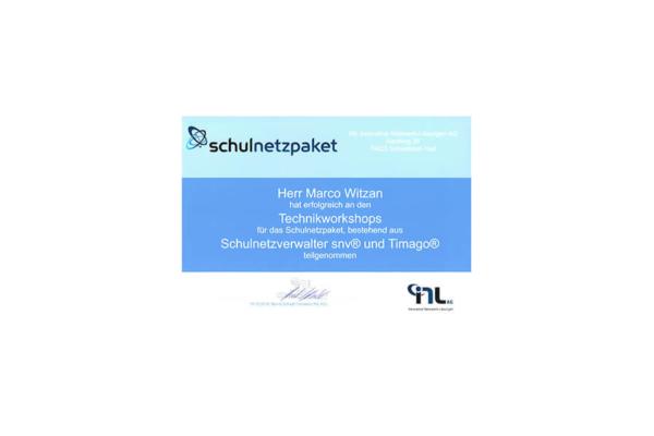 INL AG – Schulnetzverwalter snv und Timago – Marco Witzan